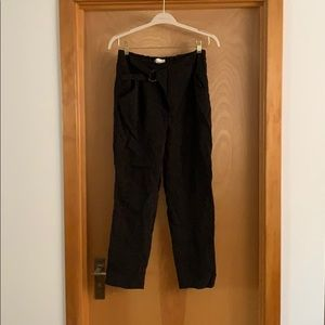 Anthropologie black silky causal pants. Size small